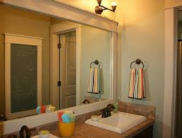framed bathroom vanity mirrors. Bathroom: White Framed Bathroom Mirror Ideas And Also Classic Wall Sconces - Framing A Vanity Mirrors