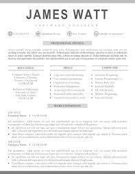 019 Best Professional Resume Template Phenomenal Ideas Templates