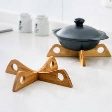 Anti-hot <b>pad</b> heat <b>insulation pad bamboo</b> dining <b>table mat</b> casserole ...