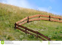 wooden farm fence. Wooden Fence In A Farm S