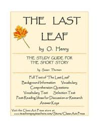 best short stories lesson plans and activities images on o henry the last leaf study guide 16 pgs ans keys 6