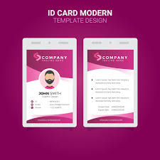 Business Id Template Office Id Card Modern Simple Corporate Business Template