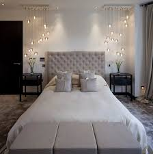 nice modern bedroom lighting. Wonderful Nice Warm Grey Bedroom With Modern Side Chandelierspendant Lighting Intended Nice Modern Bedroom Lighting B
