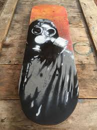 Stencil Spraypaint Spray Paint Stencil Gas Mask Skateboard Wall Art Small