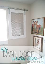 Project Kid's Bathroom: DIY Barn Door Window Cover for the Bathroom ...