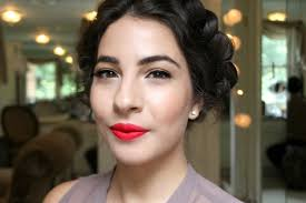 easy red lips makeup tutorial