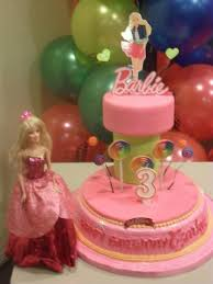 Red Ribbon Barbie Cake Design Cake Recipe
