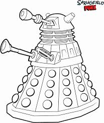 Small Picture Doctor Who Coloring Pages Coloring Home