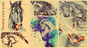 эскизы тату конь коллекция рисунков для тату значение и фото