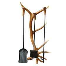 antler fireplace tool set 4 pcs