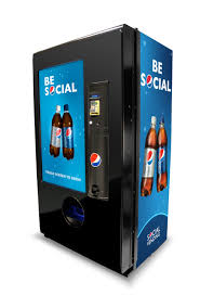 "Pepsi Vending Machine For Sale Classy Pepsi Unveils Spambot ""Be Social"" Vending Machine"
