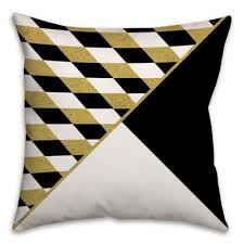 black and cream pillows. Contemporary Black Diamond And Triangle Pattern Throw Pillow In CreamMulti On Black And Cream Pillows