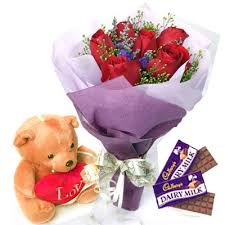 Image result for Flowers and chocolates