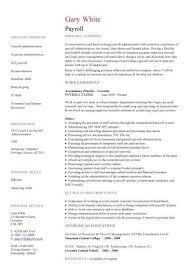 Payroll Resume Samples Resume Sample
