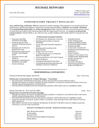 Construction Project Manager Resume Construction Project Manager