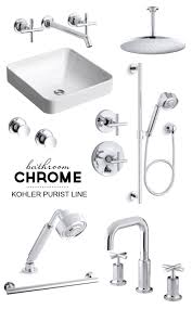 master bathroom inspiration board chrome purist by kohler pepperdesignblog com
