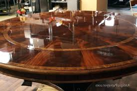 extra large round dining table mahogany with perimeter leaves seats ro home decor room
