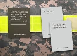 it is not affiliated with cards against humanity a trademark of cards against humanity llc the department of defense or any government agency
