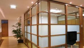 wood office partitions. Wood And Glass Partition Office Partitions D