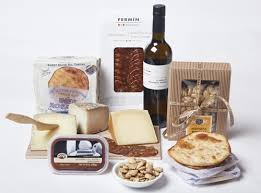 tapas time spanish gift basket with wine