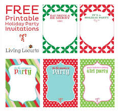 Printable Holiday Party Invitations Free Printable Holiday Party Invitations Tags Christmas Party