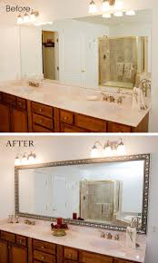 decorative bathroom mirror. A Large Plate Glass Bathroom Mirror Goes From Bare To Beautiful In Minutes With MirrorMate Frame. Decorative S
