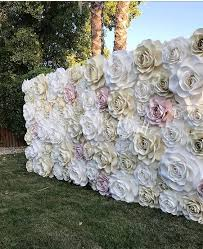 Paper Flower Wedding Backdrops Mountain Wedding Diy Paper Flower Wedding Backdrop