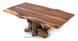 rustic black walnut coffee table