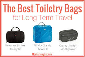 the best toiletry bags for long term travel