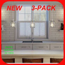 3 Pack Hdc 1 Light Polished Chrome Pendant With Water Cube Glass Shade R20 748119096407 Ebay