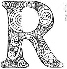 R アルファベット レター 文字のイラスト素材 Pixta