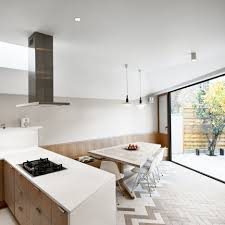 Kitchens In Victorian Houses Herringbone Patterns Feature Inside Angular House Extension By