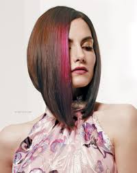 Swing Bob Hair Style long angled bob for a swing style with a blush of fuscia hair color 5815 by stevesalt.us