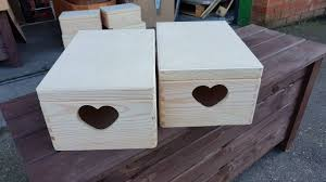 Plain Wooden Boxes To Decorate Set Two Plain Wood Wooden Box Wooden Chest Trinket box Box for 45