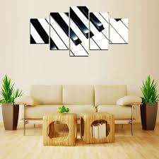mailingart fiv566 5 panels landscape wall art painting home decor canvas print colormix 12 x