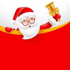Blank Christmas Background Santa With Bell And Blank Christmas Background Vector 02 Free Download