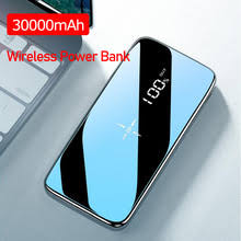 <b>Power Bank</b> 30000mAh <b>Wireless</b> External Portable <b>Powerbank</b> Full ...