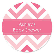 Angel In The Cloud Girl Baby Shower Stickers  Candles U0026 FavorsBaby Shower Tags And Labels