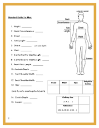 Measurement Chart Body Personal Body Measurement Guide Chart For Sewing