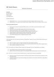 Esl Resume Sample Best Of Esl Teacher Resumes Roddyschrock