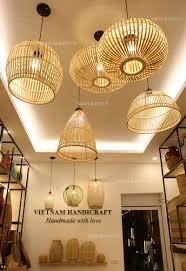 Woven Ceiling Light Shade Bamboo Ceiling Shades Vietnam Handicraft Co Ltd