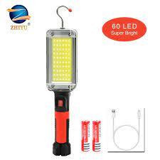 Đèn LED Âm Trần COB Làm Việc Ánh Sáng Với Đế Từ Tính Và Móc Sạc Xách Tay  Với 18650 Pin Cho Sửa Chữa Ô Tô, Cấp Cứu / portable chiếu sáng