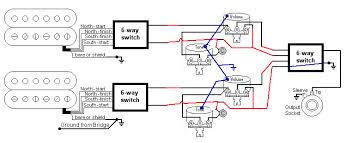 hh 6 way pickup selector wiring vol tone pots guitarnutz 2 so going into your last 6 way switch you have 4 independent wires as shown you can configure that switch so one of them is always grounded blue line