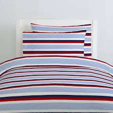 red and blue stripe duvet cover