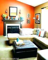 Burnt Orange And Brown Living Room Concept Awesome Inspiration Ideas