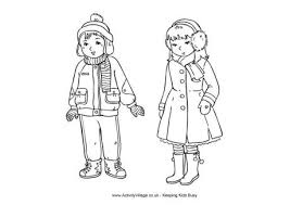 Small Picture Winter Clothes Colouring Page