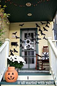 halloween front door decorationsHalloween Front Door Idea