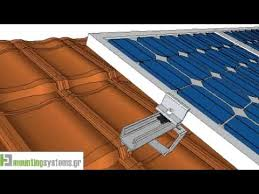 how to install solar panel rails tile roofs roof81