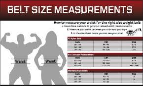 Weight Lifting Belt Width Chart
