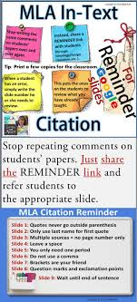 Mla In Text Citation Reminder For Google Slides Freshman English